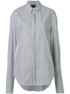 Рубашка в полоску Josh Goot. Цвет: чёрный