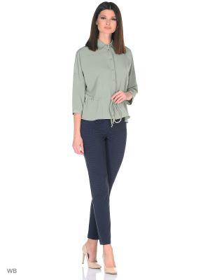 Блузка FLEURETTA. Цвет: серо-зеленый