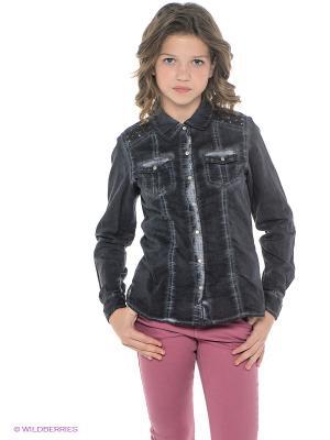 Рубашка GARCIA. Цвет: антрацитовый