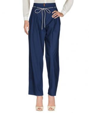 Повседневные брюки SONIA DE NISCO. Цвет: темно-синий