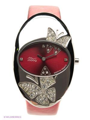 Часы MOOG. Цвет: серебристый