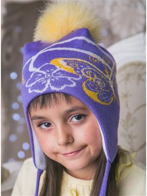 Шапка LFC. Цвет: фиолетовый, белый, желтый