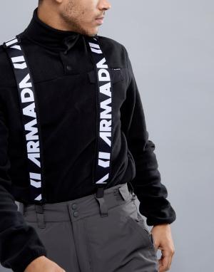 Armada Черные подтяжки с логотипом. Цвет: черный