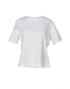 Блузка TRUE ROYAL. Цвет: белый