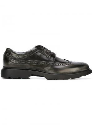 Туфли броги Hogan. Цвет: серый