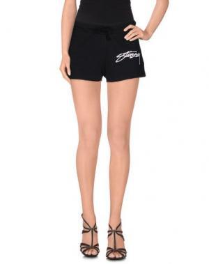 Повседневные шорты STUSSY. Цвет: черный
