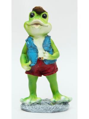 Декоративная фигурка Лягушка в шортах Magic Home. Цвет: зеленый, голубой, красный