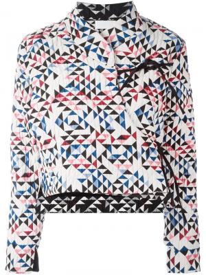 Пиджак с запахом Soo Reality Studio. Цвет: многоцветный