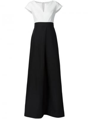 Платье в стиле колор-блок Halston Heritage. Цвет: чёрный