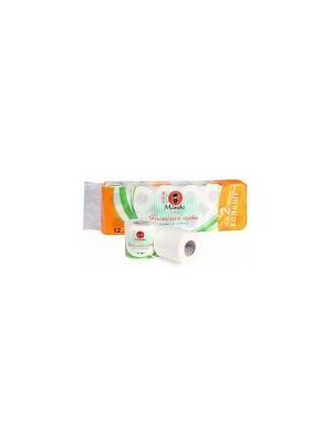 Бумага туалетная Yo me с тиснением, ароматом Японской айвы, 12 р/упак Maneki. Цвет: белый