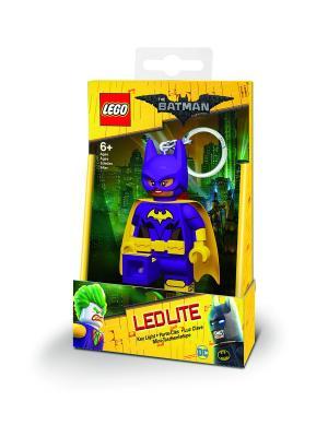 Брелок-фонарик для ключей LEGO Batman Movie (Лего Фильм: Бэтмен)-Batgirl Lego.. Цвет: фиолетовый, светло-желтый, темно-бежевый