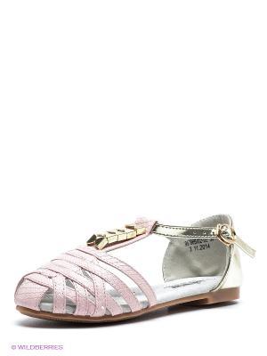 Босоножки Betsy. Цвет: бледно-розовый, золотистый