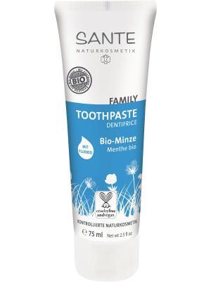 Sante Family Зубная паста с Мятой и Фтором. Цвет: белый