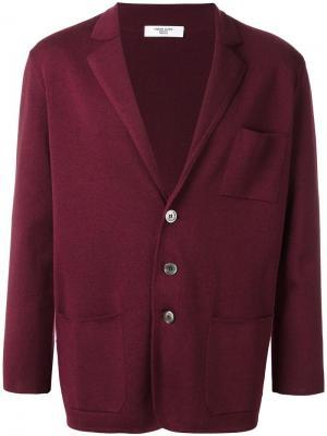 Кардиган с накладными карманами Fashion Clinic Timeless. Цвет: розовый и фиолетовый