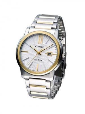 Часы AW1214-57A CITIZEN. Цвет: серебристый, золотистый