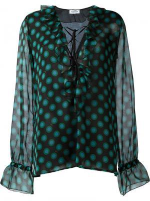 Блузка свободного кроя с рюшами Au Jour Le. Цвет: чёрный