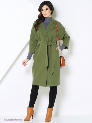 Пальто-oversize RUXARA. Цвет: зеленый