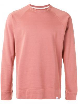 Plain sweatshirt Norse Projects. Цвет: розовый и фиолетовый