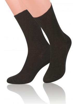 Носки с ослабленной резинкой Steven. Цвет: темно-коричневый, коричневый