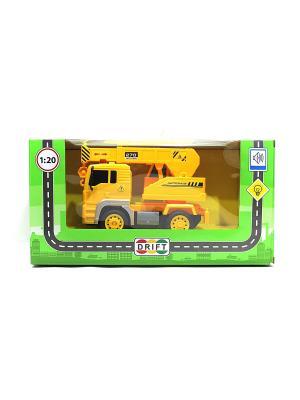 Машина с подъемным краном Drift. Цвет: желтый