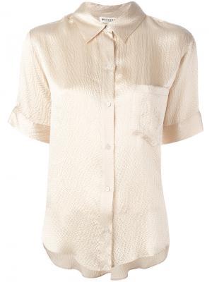 Рубашка с короткими рукавами Masscob. Цвет: телесный