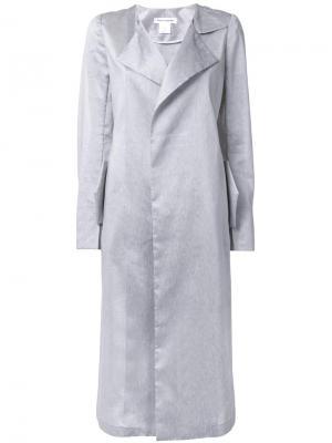 Пальто с отделкой металлик Bianca Spender. Цвет: серый