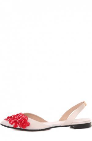 Балетки Giambattista Valli. Цвет: светло-розовый