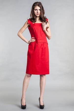 Платье PAOLA COLLECTION. Цвет: красный