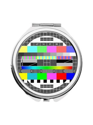 Зеркальце карманное ТВ-сетка Chocopony. Цвет: зеленый, серый, сиреневый