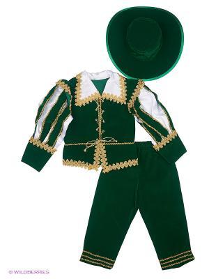 Карнавальный костюм ЛОРД Батик. Цвет: темно-зеленый