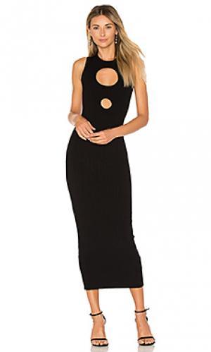 Макси платье julianne Ronny Kobo. Цвет: черный