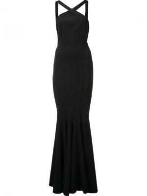 Длинное платье Reilley Zac Posen. Цвет: чёрный