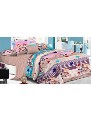 Комплект постельного белья 1,5сп, поплин BegAl. Цвет: терракотовый