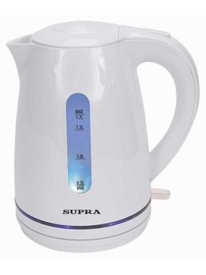 Чайник Supra KES-1729 1.7л. 2200Вт белый (пластик). Цвет: белый