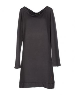 Короткое платье ALTERNATIVE EARTH. Цвет: свинцово-серый
