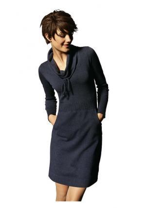 Платье B.C. BEST CONNECTIONS. Цвет: серый меланжевый, синий