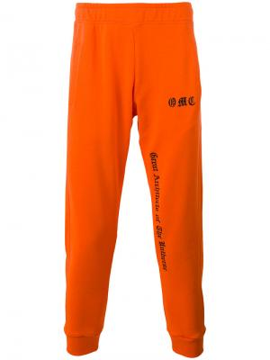 Спортивные брюки с логотипом Omc. Цвет: жёлтый и оранжевый