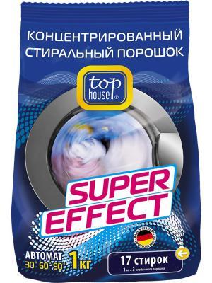 Top house концентрированный суперэффективный стиральный порошок автомат,1 кг. в пак.. Цвет: синий