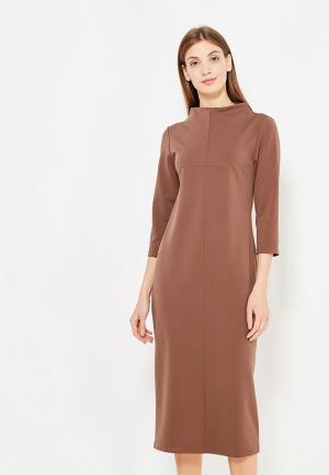 Платье Vivostyle. Цвет: коричневый