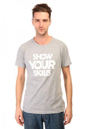 Футболка  Show You Raglan Grey Melange Skills. Цвет: серый