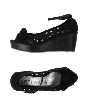 Туфли APEPAZZA. Цвет: черный