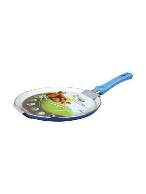 Сковорода блинная 24х1,7см Green Top. Цвет: синий