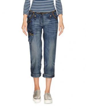 Джинсовые брюки-капри ANDREW MACKENZIE. Цвет: синий