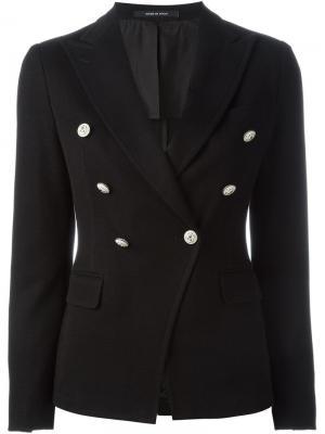 Двубортный пиджак Tagliatore. Цвет: чёрный
