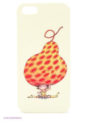 Чехол для IPhone 5 Девочка-груша Mitya Veselkov. Цвет: кремовый, зеленый, красный