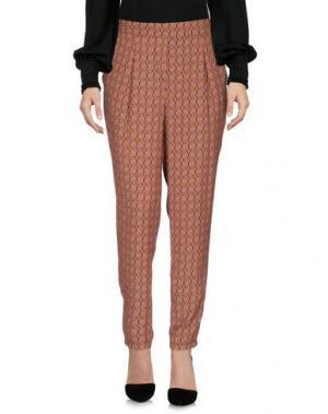 Повседневные брюки DIXIE. Цвет: ржаво-коричневый