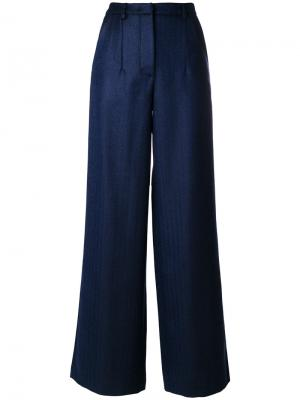 Широкие брюки Miahatami. Цвет: синий