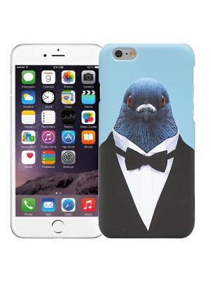 Чехол для iPhone 6/6s Голубь в костюме Kawaii Factory. Цвет: черный, синий