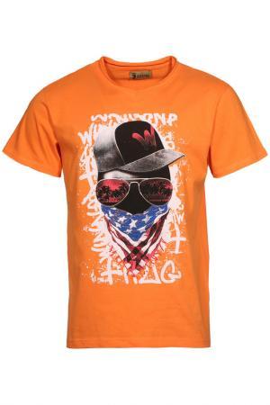 Футболка Z-Brand. Цвет: оранжевый