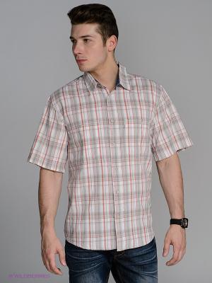 Рубашка Westrenger. Цвет: серый, красный